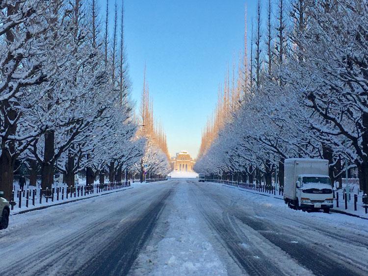 都会の積雪イメージ